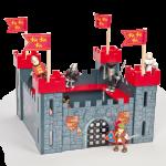 Castillo de madera mi primer castillo rojo-0