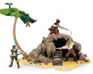 Isla de los piratas + cofre del tesoro-0