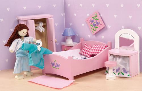 Habitación de matrimonio para casa de muñecas-0
