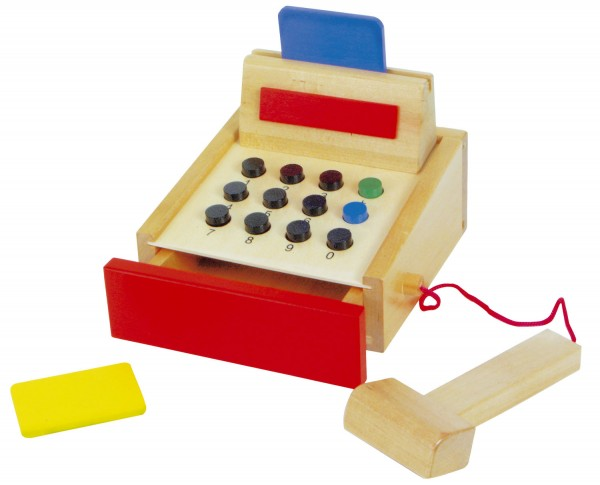 Caja registradora infantil para tienda -0
