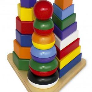 Juego infantil de meter y sacar en forma de 3 torres-0