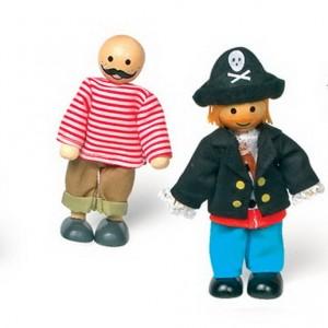 Muñecas infantiles flexibles piratas-0