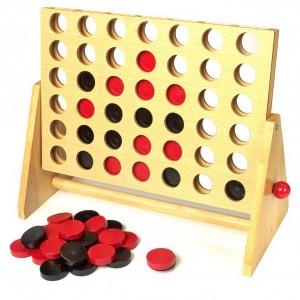 Juego de madera cuatro en línea-0