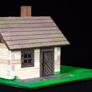 maqueta para construir cabana rústica-0