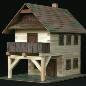 maqueta de madera para construir casa de pueblo-0