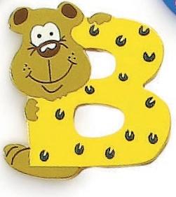 Letra de madera decorativa infantil B-0