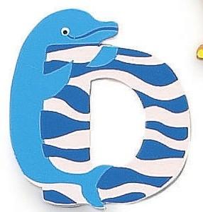 Letra de madera decorativa infantil D-0