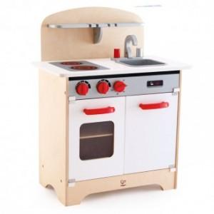 Cocinita Blanca de madera-0