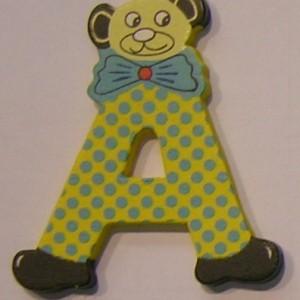 Letra de madera decorativa infantil A-0