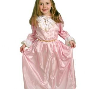 Disfraz de Doncella Rosa 6-7 Años-0
