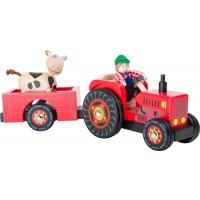 Tractor con remolque, Granja-0