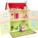 Casa de muñecas con techo desmontable2