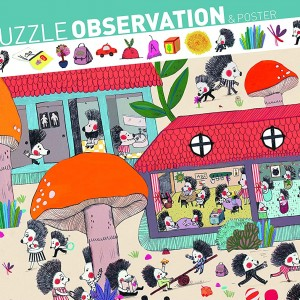 Puzzle de Observación 35 Piezas L'ecole des hérissons-0